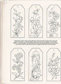 Could be done in embroidery and then made into bookmarks! pergamano - Page 10 #Bookmarks