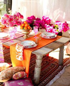 Exotic Brights table