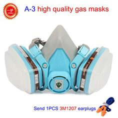Gas Masks With Goggles Safety Respirator Mask Anti Dust Pesticide Painting Spraying Industrial Emergency Survival Filter Ture 100% Guarantee Masks