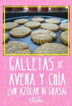 Oatmeal and chia cookies without sugar or fat (super nutritious) # sugar # chia <-> Baking Recipes, Real Food Recipes, Nutella French Toast, Recipe Organization, Sugar Free Desserts, Pastry And Bakery, Healthy Sweets, Muffins, Yummy Cookies