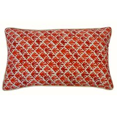Spice up your outdoor decor with this Yucca Red decorative throw pillow.  This trendy accent pillow is crafted of 100-percent polyester with a plush poly dacron fiber fill, finished with an invisible zippered closure.