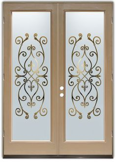 Corazones Negative Frost - Double Entry Doors Hand-crafted, sandblast frosted and 3D carved.  Available as interior or entry door in 8 woods and 2 fiberglass. Slab door or prehung any size, or as glass insert only.  Our fun, easy to use online Glass and Door Designer gives you instant pricing as YOU customize your door and glass!  When you're all finished designing, you can place your order right there online!  Doors ship worldwide from Palm Desert, CA