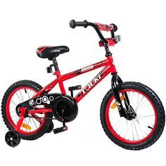 Tauki 16 Inch Kid Bike BMX Bike with Removable Training Wheels, Boy's Bike, Girl's Bike, Kid's Gift, Red, for 4-8 Years Old Tauki http://www.amazon.com/dp/B00MFEGM60/ref=cm_sw_r_pi_dp_22E5vb08J0SXJ