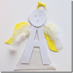 It's time for some fun alphabet crafts! Preschool Christmas Crafts, K Crafts, Alphabet Crafts, Angel Crafts, Letter A Crafts, July Crafts, Patriotic Crafts, Preschool Letters, Preschool Crafts