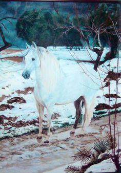 Caballo en la nieve. Horse in the snow.
