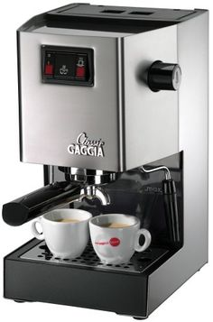The Gaggia Classic sets a standard for home espresso machines, offering elegant style combined with commercial grade construction. Make delicious espresso, cappuccino or latte drinks that beat the local cafe—hands down. The timeless design of the Gaggi Best Home Espresso Machine, Machine A Cafe Expresso, Espresso Machine Reviews, Automatic Espresso Machine, Espresso Coffee Machine, Best Espresso, Coffee Maker, Latte Maker, Coffee Shops