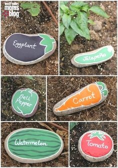 These cute & easy DIY markers are great for your vegetable garden while on a budget. You can DIY with your own home supplies. #GardenDesign