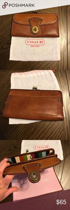 Coach Legacy wallet  whiskey color Coach whiskey leather wristlet. Excellent condition. With dust bag Coach Bags Wallets