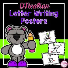 D'Nealian Alphabet Letter Writing Cards will help your students learn how to form their uppercase and lowercase letters the correct way. This is great handwriting practice