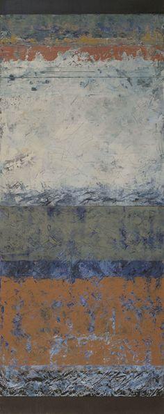 """della terra VI, oil on panel, 40""""x 16"""""""