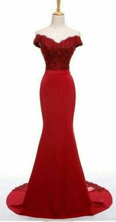 Formal Dresses, Red, Fashion, Dresses For Formal, Moda, Formal Gowns, Fashion Styles, Formal Dress, Gowns