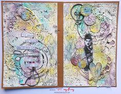 EPOKA  PAPIEROWA: Art journal w pastelach