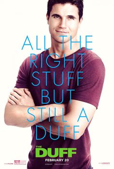 The DUFF poster w/ Robbie Amell