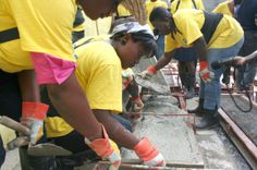 More than 19,000 people in Haiti will be trained in disaster-resilient house building techniques. Nearly half of them are women. When the training period is over, female construction workers will kick-start their own business offering services to other earthquake-affected communities.