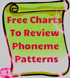 Free Charts To Review Phoneme Patterns! Wonderful visual teaching aid to revisit/review phoneme patterns. The size of the charts can also be adjusted.Great to use on smart board for whole class instruction!