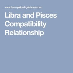 Libra and Pisces Compatibility Relationship
