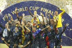 France won the World Cup for the second time in spectacular style on Sunday as a 4-2 victory in one of the most entertaining and action-packed finals for decades ended battling outsiders Croatia's dreams of a first title. World Cup Final 2018, Fifa World Cup 2018, Football 2018, Football Tournament, London Football, France Football, Sport Football, Antoine Griezmann, Zinedine Zidane