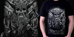 """""""Warrior"""" t-shirt design by Geno 75"""