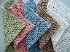 Waffle Crochet Spa Washcloth.
