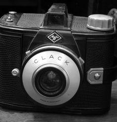 Máquina fotográfica Clack de Agfa, Sonia Carroza Antiguedades