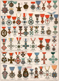 1897 Military Decoration Antique Print Vintage by Craftissimo