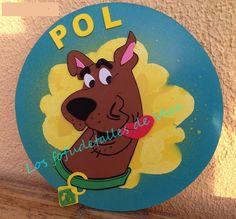 Cartel con nombre en goma eva Scooby Doo