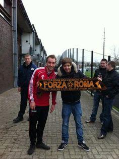 Christian Eriksen is an #asroma supporter...