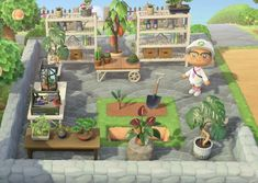 animal crossing new horizons Had a blast putting together my plant workspace : AnimalCrossing Animals Crossing, Animal Crossing Guide, Animal Crossing Qr Codes Clothes, Ac New Leaf, Motifs Animal, Animal Games, Island Design, Map Design, Look At You