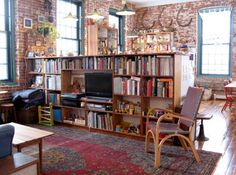 Home library love. Good divider if open plan kitchen lounge.