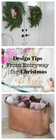 Design Ideas For The Entryway At Christmas @kirklandshome makes it fun and affordable! #ad #christmasentryway #christmashome #christmasdecorating