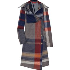 Vivienne Westwood Red Label Tartan Wool Coat ❤ liked on Polyvore