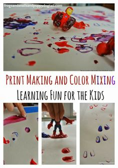 Superhero Print Making and Color Mixing fun learning for the kids by FSPDT