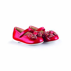 Rosse come #coccinelle le ballerine con fiocco borchiato, girano per passeggiare ai piedi delle vostre #bimbe. A #glamorouswalk in a #fabulousworld #SpringSummer #2015 #ladybug #Florens #childrenshoes