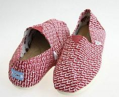 TOMS Canvas Shoes Fashion red Letter Men