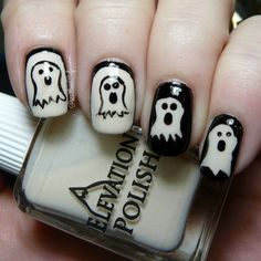 Screaming Ghosts | Community Post: 24 Spooky Nail Art Ideas For Halloween
