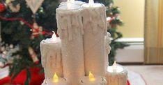 Aprende como crear un hermoso arreglo navideño de velas usando tubos de cartón. Generalmente las velas largas y gruesas son un poco caras, ... Flower Template, Pillar Candles, Margarita, Paper Flowers, Wedding Decorations, Templates, Crafty, Christmas, Made By Hands