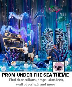 Buy Under the Sea themed decorations for proms, homecoming dances and other party events.  Available by the piece or as kits.  Basic kit starts at $399.00