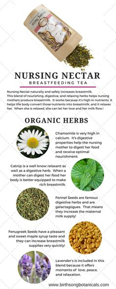 breastfeeding moms love nursing nectar breastfeeding tea because it naturally
