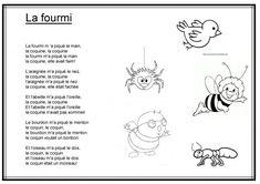 Chanson La fourmi m a piqué la main Madonna, Preschool, Language, Songs, Kids, Montessori, Charts, Centre, Animation