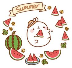 This is the first of three Molang Summer pictures and if you draw and color all three of them, they would be a lovely display on your gallery wall or notebook.Have fun! Chibi Kawaii, Kawaii Art, Cute Kawaii Drawings, Molang, Kawaii Wallpaper, You Draw, Cute Characters, Anime, Cute Bunny
