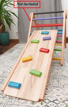 18 Month Old Activities, Indoor Activities For Kids, Kids Slide, Woodworking For Kids, Backyard For Kids, Montessori Activities, Wood Toys, Toddler Toys, Kids House