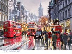 City Rainy Street Diy Painting By Numbers Abstract Walker Bus Oil Painting On Canvas Cuadros Decoracion Acrylic Wall Art Rain Painting, Street Painting, Oil Painting On Canvas, City Painting, Figure Painting, Oil Paintings, Numero D Art, Rain Street, Busy Street