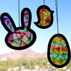 Our suncatcher template will help chase those last gray days away with four different cutouts that are perfect for Easter!