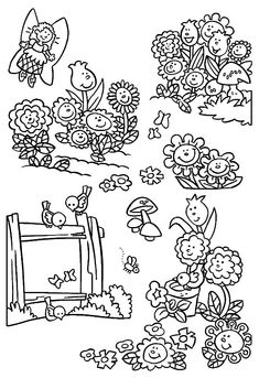 Garden Of Singing Flower Coloring Pages : Color Luna Garden Coloring Pages, Flower Coloring Pages, Free Coloring Pages, Colorful Garden, Colorful Flowers, Online Coloring, Have Some Fun, Singing, Pictures
