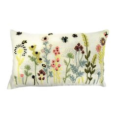 Country Fayre Embroidered Cushion | Dunelm