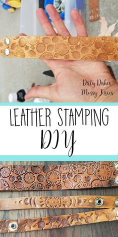 DIY Leather Stamping – Who doesn't love cute new jewelry? This tutorial will have you making leather goods before you know it.