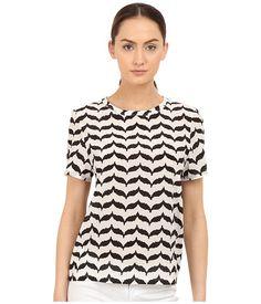 Neil Barrett Macro Kefiah Small Masc. Reg. Silk Stretch T-Shirt Off-White/Black - 6pm.com