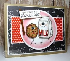 Taylored Expressions Cling Rubber Stamp Set - Perfect Pairs Milk & Cookies TEPS145 - Crafty Inspiration