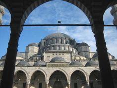 ISTAMBUL Suleymaniye Mosque, courtyard Hagia Sophia, Black Sea, Istanbul Turkey, 16th Century, Mosque, Taj Mahal, Cathedrals, World, Industrial