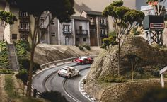 View David Beattie Makes the World's Most Extravagant and Realistic Slot-Car Tracks [Sponsored] Photos from Car and Driver. Find high-resolution car images in our photo-gallery archive. Race Car Sets, Slot Car Racing, Slot Car Tracks, Race Tracks, Auto Racing, Scalextric Track, Scalextric Digital, Carrera Slot Cars, Track Pictures